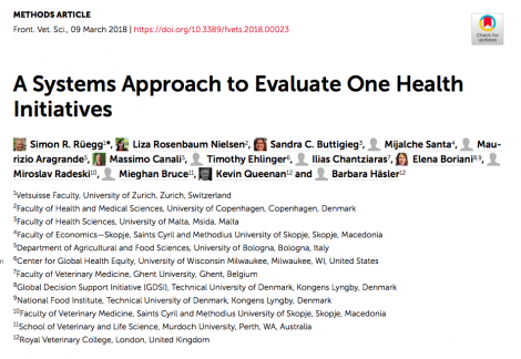 A Systems Approach to Evaluate One Health Initiatives